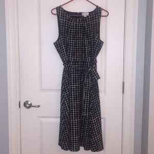 Women's ELLE Pleat Neck Fit & Flare Dress